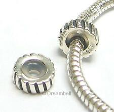 Bali Sterling Silver Stopper Rubber Round Twisted Stripes European Bead Charm