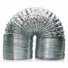"Grow Pro Aluminum Ducting 8"" Inch x 25' Feet Air Ventilation Clamps Included"