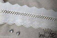10+free4Yds Broderie Anglaise cotton eyelet lace trim 6cm YH1489 laceking2013
