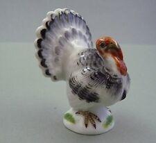 NP 600,-€ Truthahn Miniatur H.6,5cm Tierfigur - Meissen  Figur Vogel TOP 1.Wahl