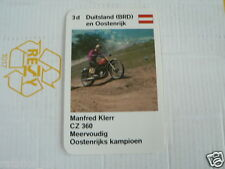 23 MOTO-CROSS 3D GERMANY MANFRED KLERR CZ 360 KWARTET KAART, QUARTETT CARD,