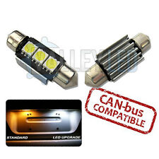 VW Golf Mk4 97-04 Bright Canbus White LED Number Plate 36mm C5W 3 SMD Bulbs