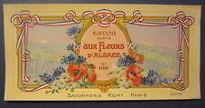 Old Vintage 1930's - Savon aux Fleurs D'Alsace - FRENCH SOAP LABEL - PARIS