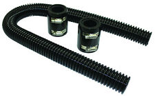 "36"" Black Stainless Flexible Radiator Hose Kit W/ Billet Clamp Covers Chevy Ford"