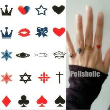 1Pc Tattoo Crown Snowflake Waterproof Paper Temporary Removable Tattoo Sticker