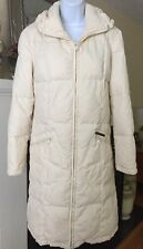 Women's GAS CLOTHING BRAND Ivory Trench Down Fill Puffer Coat Sz S