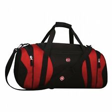 Swiss Gear Wenger Sport Gym Travel Camp Carry on bag Duffel Black & Red SWA0764P