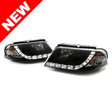 01-05 VW PASSAT B5.5 E-CODE PROJECTOR HEADLIGHTS W/ S5 STYLE LED STRIP - BLACK