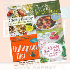 Clean Eating Cookbook 4 Books Collection Set (The Bulletproof Diet)MixedLot New
