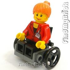 M018A Lego City Mary Jane Minifigure with Custom Wheelchair NEW