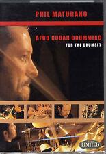 Phil maturano Afro Cubane tambureggiamento imparare a giocare latina DRUMS MUSICA DVD