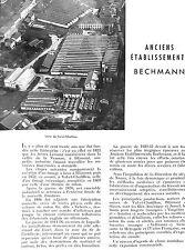 57 BLAMONT VAL-ET-CHATILLON ARTICLE DE PRESSE ETS BECHMANN FILATURE 1953
