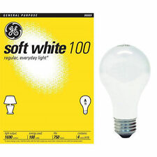 48 Pack~100 Watt GE Soft White Incandescent Light Bulbs  *41036*