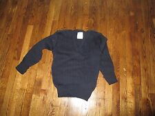 british  commando ,sweater woman's,wool, v neck,navy, ribbed ,used, s-medium