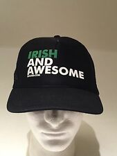 Irish And Awesome Trucker SnapBack Hat Cap Fast Free Shipping. St Patrick's Day