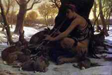 Vedder Elihu Marsyas Enchanting The Hares A4 Print