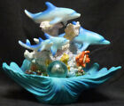 "DOLPHIN PEARL Pod on Shell & Coral Statue Figurine W8.25"" x H6.5''"