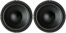 "NEW (2) 6.5"" Woofer Speakers.Replacement.8 ohm.Home Audio Sound Stereo Pair."
