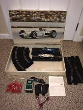 Vintage 1960's Strombecker 1/24 Slot Car Set,Track,Triang,Maserati,Accessories