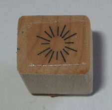 Starburst Rubber Stamp Mini Sun Rays Background Design Wood Mounted
