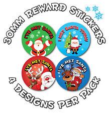 144 x 30mm 'I met Santa' stickers - Schools, Shops, Garden Centres, Parties