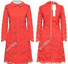 Ted Baker London Red Ameera Scallop Hem Lace Dress Size 0 (US 2) $349