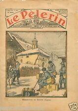 Chasseurs Alpins Skis Soldats Manoeuvres Savoie Alpes 1935 France ILLUSTRATION
