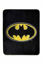 "BATMAN FLEECE BLANKET 50"" x 60"" Super Soft Throw Brand New!"
