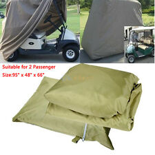 2 Passenger Enclosure Golf Cart Storage Cover Fits EZ GO Club Car Yamaha Taupe