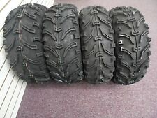 2004-2016 HONDA RANCHER 420 BEAR CLAW 6PLY ATV TIRES NEW SET 4 24X8-12 24X10-11