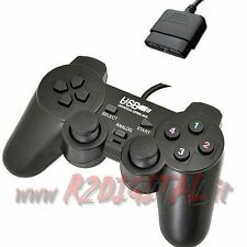 CONTROLLER PS e PS2 JOYSTICK VIBRAZIONE DUAL SHOCK PLAYSTATION 1 e 2 GAMEPAD USB