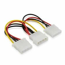 New 4 Pin IDE 1-to-2 Molex IDE Power Supply Y Splitter Exentsion Cable adapter