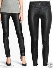 H&M SIZE UK 10 / 36 SKINNY LEDER HOSE Lederhose FAUX LEATHER TROUSERS LEGGINGS