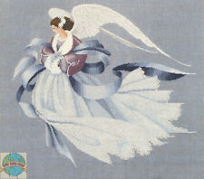 Cross Stitch Chart / Pattern ~ Lavender & Lace Angel of Winter #LL33