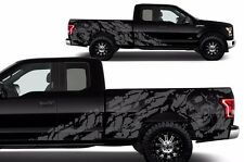 Custom Graphics Vinyl Decal Wrap Kit for 15-17 Ford F-150 Pickup NIGHTMARE Gray