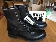"Frye 'Veronica Combat Boot"" Black Leather Lace Up Size 6.5 M"