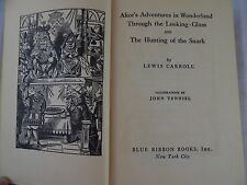Alice in Wonderland * Blue Ribbon Books *  Looking glass & hunting of the Snark
