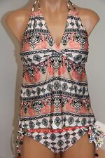 NWT BECCA Swimsuit Bikini Tankini 2 pc set Size M Basic Fit Multi