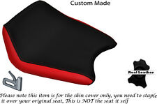 RED & BLACK CUSTOM FITS CAGIVA PRIMA 50 FRONT RIDER LEATHER SEAT COVER ONLY