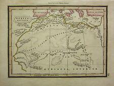 1832 SMALL ANCIENT MAP ~ AFRICA ANTIQUA GOETULIA NUMIDIA LIBYA MAURITANIA