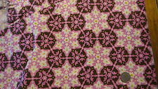 Cotton Fabric, DAISY CHAIN PINK/BROWN Medallions by Amy Butler 1 Yd/44""