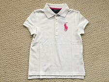 NWT $39 Ralph Lauren Girl's White BIG PONY Short-Sleeve Polo Top - Sz. 6X