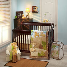 Disney Lion King 8-Pcs Crib Bedding Set Simba & Nala Unisex Urban Jungle Bumper