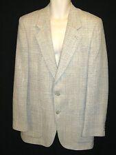 Daniel Hechter Men's GREY  100% Tweed Wool Check Sport Coat Blazer Jacket (40L)