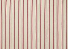 "LAURA ASHLEY FORBURY STRIPE COTTON FABRIC - CERISE 80CM (32"") BY 138CM WIDE"