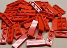 x50 NEW Lego Tiles Red Smooth Finishing Tile 1x3 1 x 3 MODULAR BUILDINGS