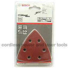 10 Bosch WOOD Delta Sanding Sheets Mixed Grit PMF 180 E Multi Tool 2608607540