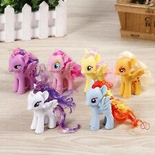 6Pcs/Set 8CM Lot of My Little Pony funny Cake Toppers Doll Action Figure Toy