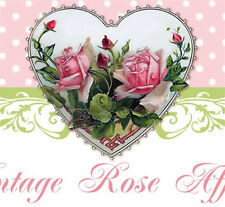Shabby Vtg Chic Pink Roses Victorian Hearts Ebay Listing - Auction Template