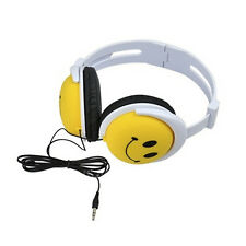 Foldable Cute Smile Cry Weep Girls Boys Childrens Kids Over the Head Headphones